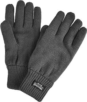 bc25216a4a7ff2 normani Strick Fingerhandschuhe mit Thinsulatefütterung Winterhandschuhe  Farbe Anthrazit Größe 3XL