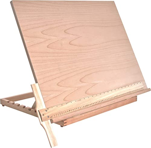 US Art Supply Extra Large Adjustable Wood Artist Drawing and Sketching Board