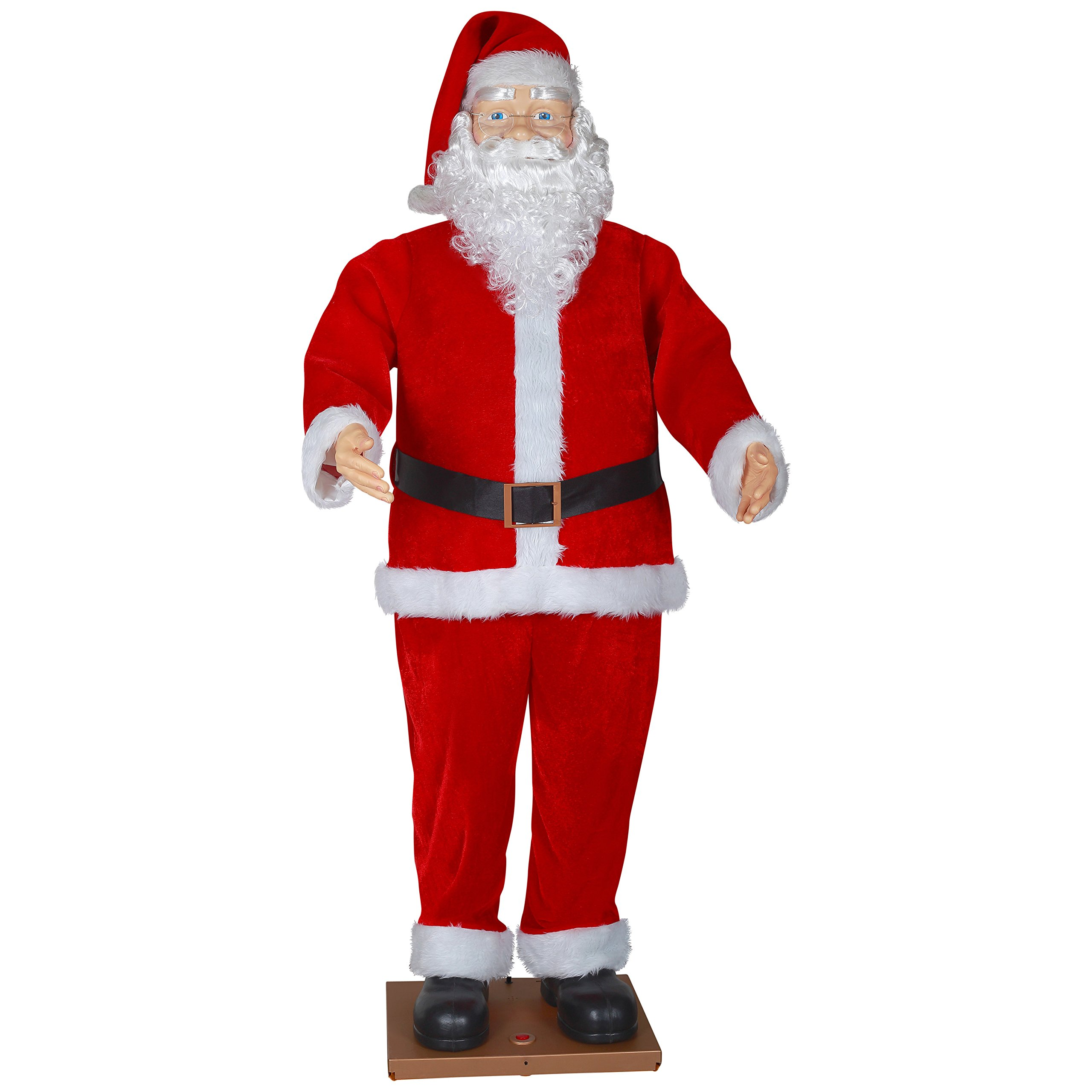 6' Life Size Animated Dancing Santa with Realistic Face by Gemmy (Image #1)
