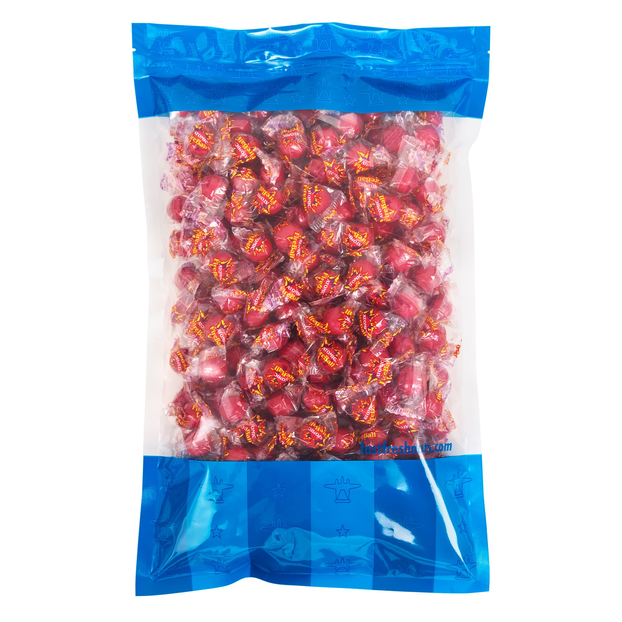 Bulk Atomic Fireballs - 5 lbs in a Resealable Bomber Bag - Perfect for Home and Office Candy Bowls - Wholesale - Vending Machine Refills and More! by Fast Fresh Nuts