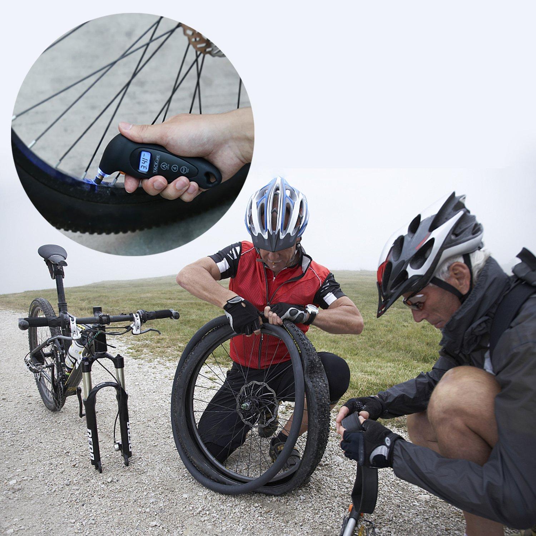 Tacklife TG-01 100 PSI Moto e Biciclette con Valvole Schrader Camion Leggero e Portatile con Schermo Retroilluminato LCD|per Auto Manometro Pressione Pneumatici Rapido e Preciso Manometro Digitale