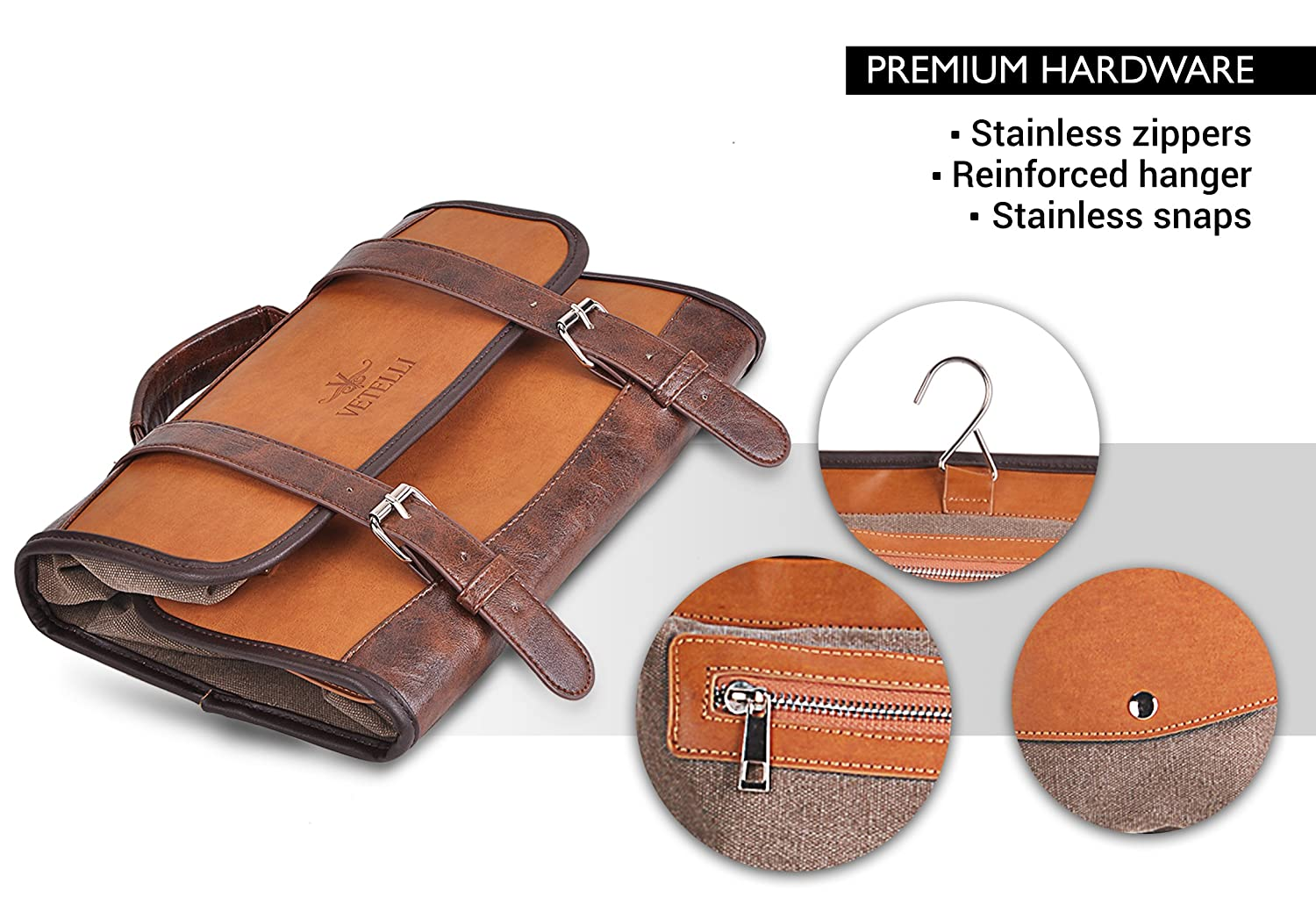 fedc4105b7 Amazon.com  Vetelli Hanging Toiletry Bag for Men - Dopp Kit Travel  Accessories Bag Great Gift  LSB-Products