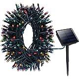 Litom Catena Luminosa Ghirlanda Luci della Stringa Solare 200 LED 8 modalità per Festa, Natale, Matrimonio, Compleanno, Decorazione Natalizia - Colorato