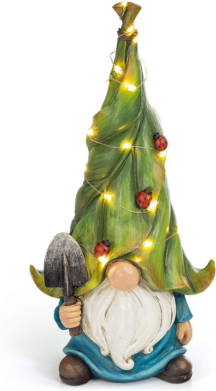 VP Home Whimsical Garden Statue Gnome Solar Powered LED Outdoor Decor Light