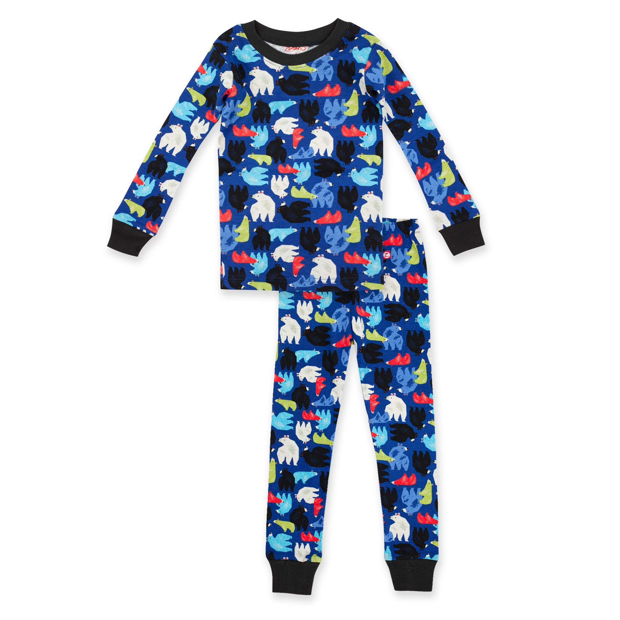 Zutano Baby/Toddler Boys Two-Piece Footless Pajamas, Big Bear, 2 by Zutano