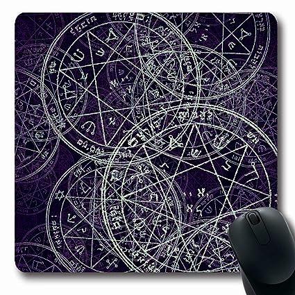 Amazon com : Ahawoso Mousepads Jewish Demon Sacred Geometry Cabala