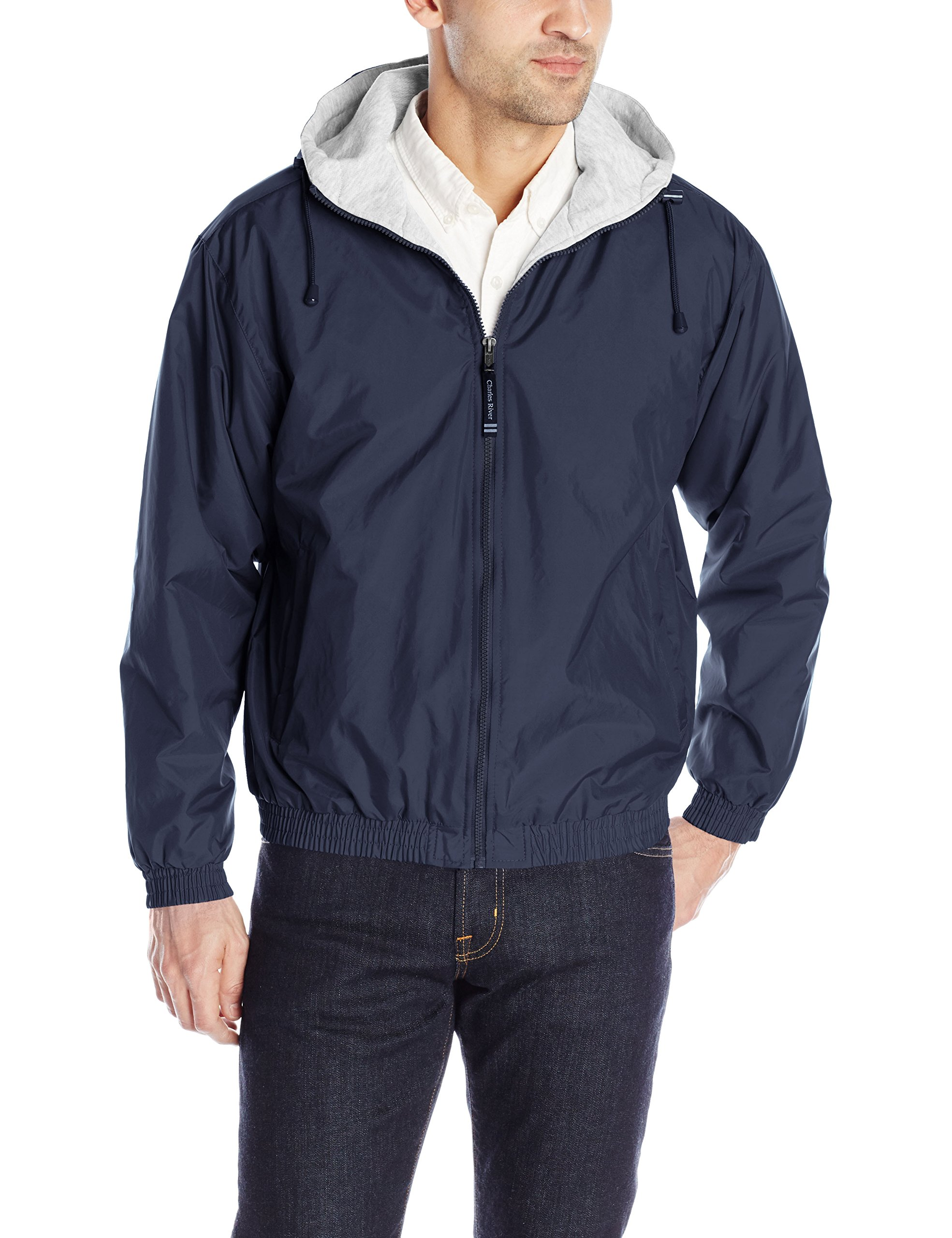 The ''Performer Collection'' Performer Nylon Jacket from Charles River Apparel,040 Navy,Adult Large by Charles River Apparel