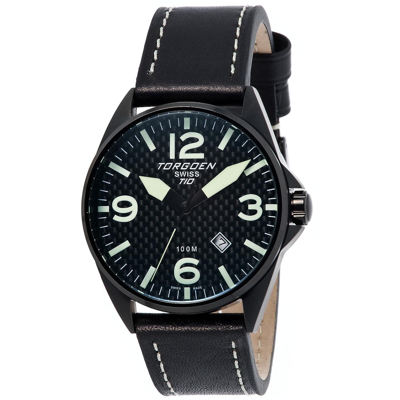 Torgeon Herren-Armbanduhr Analog schwarz T10105