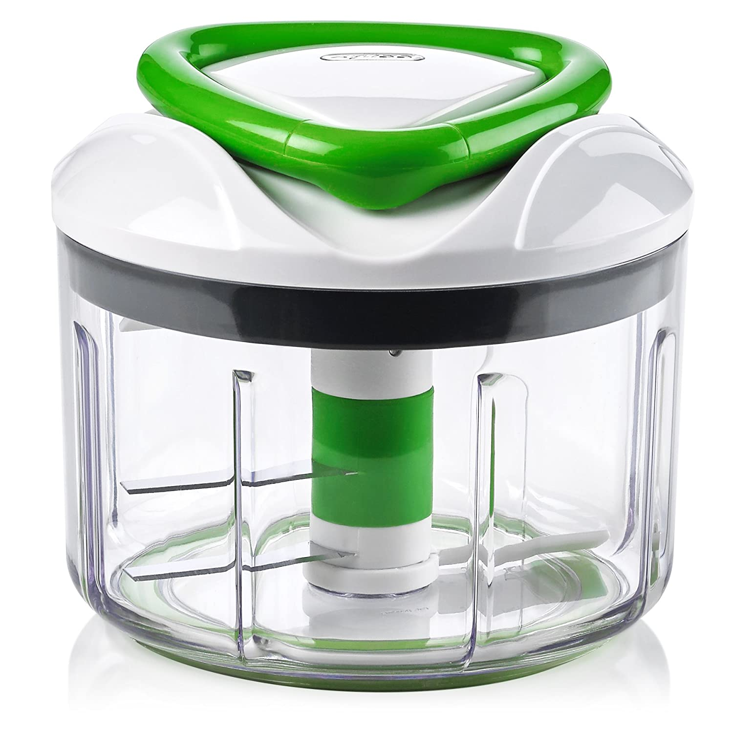 ZYLISS Easy Pull Food Chopper and Manual Food Processor - Vegetable Slicer and Dicer - Hand Held (Green) ZS-E910038U