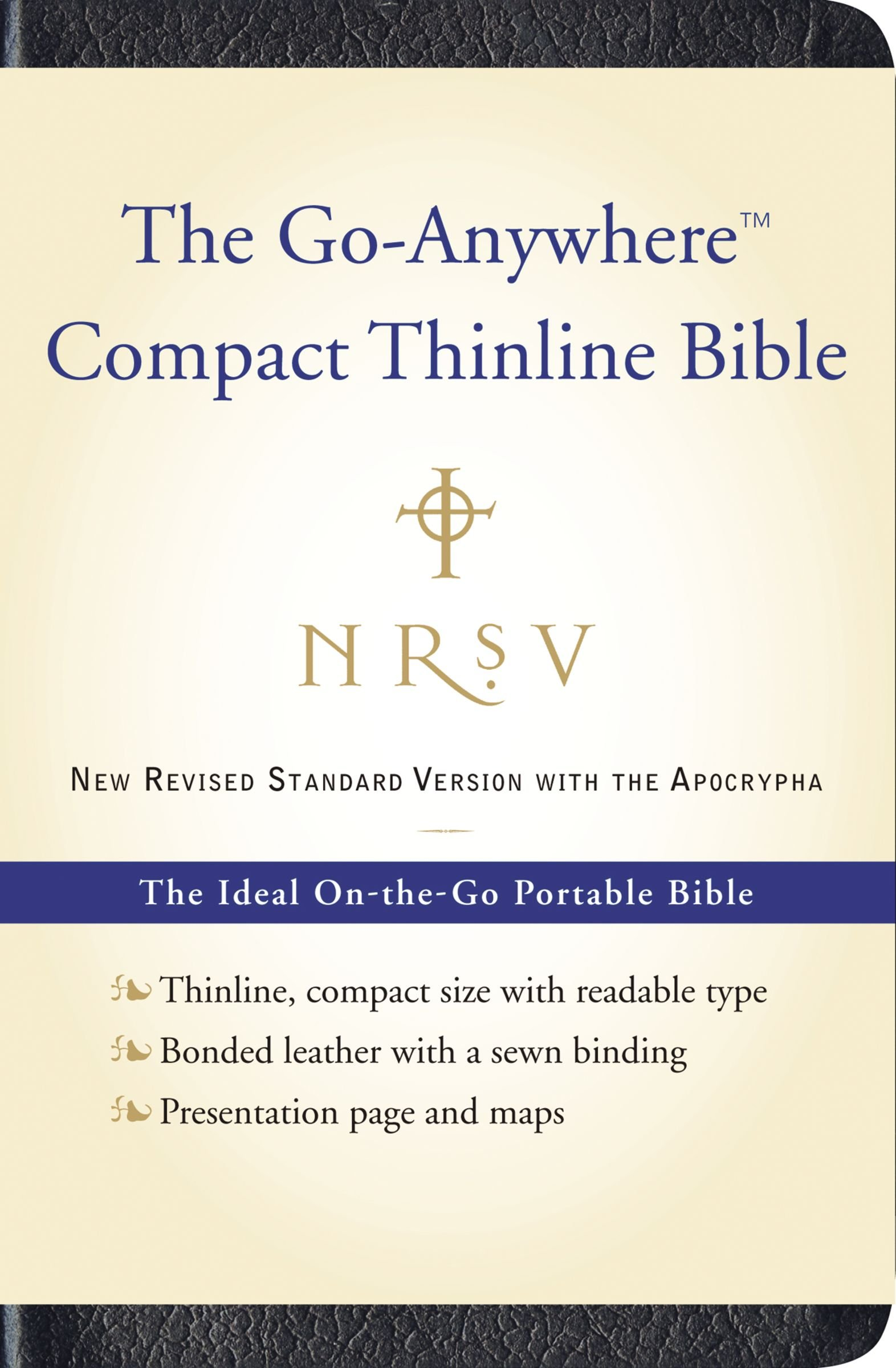 Read Online NRSV, The Go-Anywhere Compact Thinline Bible with the Apocrypha, Bonded Leather, Navy: The Ideal On-the-Go Portable Bible PDF
