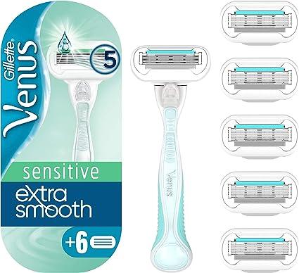 Gillette Venus Embrace Sensitive Maquinilla Para Mujer con 6 ...