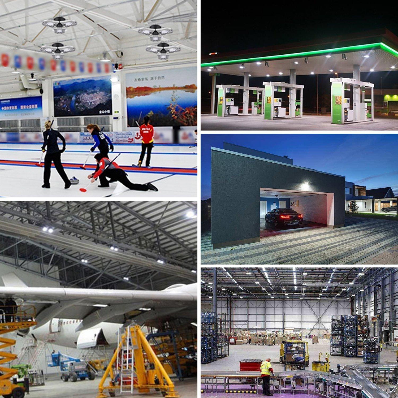 LED Garage Lighting, 6000 Lumens E26 Security Ceiling Light, 6000K Daylight