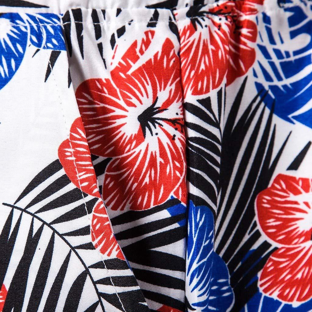 SKYLULU/♥/♥Mens Summer Fashion Beach Board Shorts Printed Beach Pants and Shorts Comfortable Short