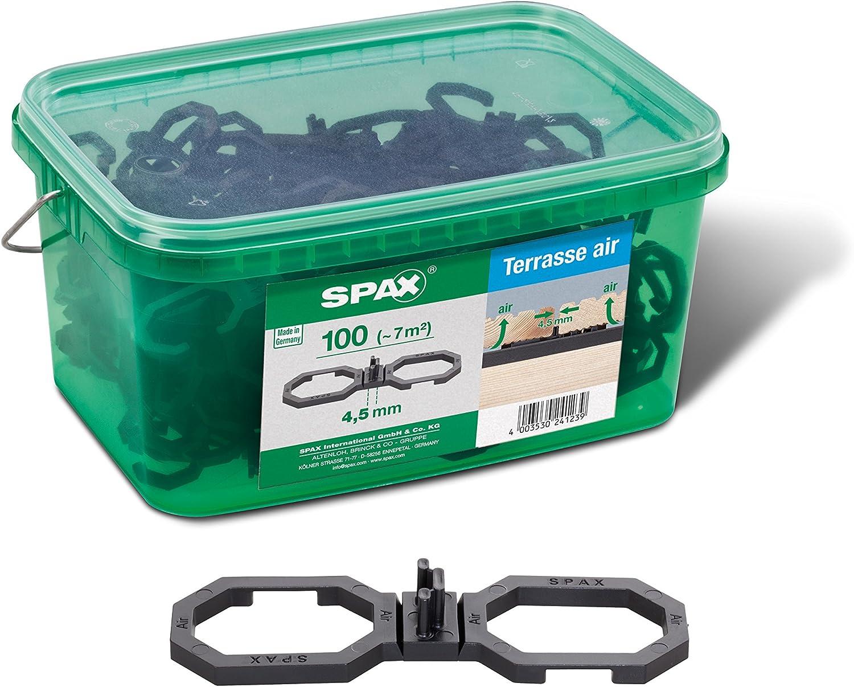 2,8m/² zur besseren Bel/üftung in Henkelbox M f/ür ca Abstand: 6,5mm Schwarz 5009422564009 SPAX Air