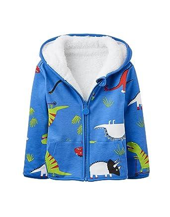 e51c19d49601 Joules Baby Boys James Blue Dino Reversible Sweatshirt Jacket (12-18 Months)