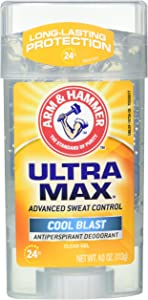 Arm & Hammer Deodorant 4 Ounce Gel Clear Ultra Max Cool Blast (118ml) (6 Pack)