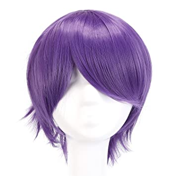 Mapofbeauty 12 30cm Short Straight Men Cosplay Wigs Brown Blonde Yellow Purple 6 Colors High Temperature Fiber Synthetic Hair Terrific Value Synthetic None-lacewigs