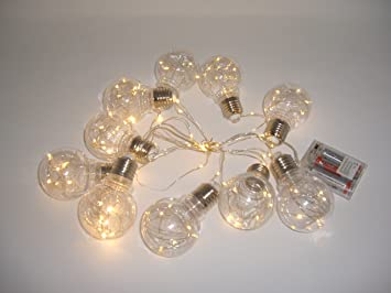 Mini Acrylic Crystal Chandelier String Lights 16ft