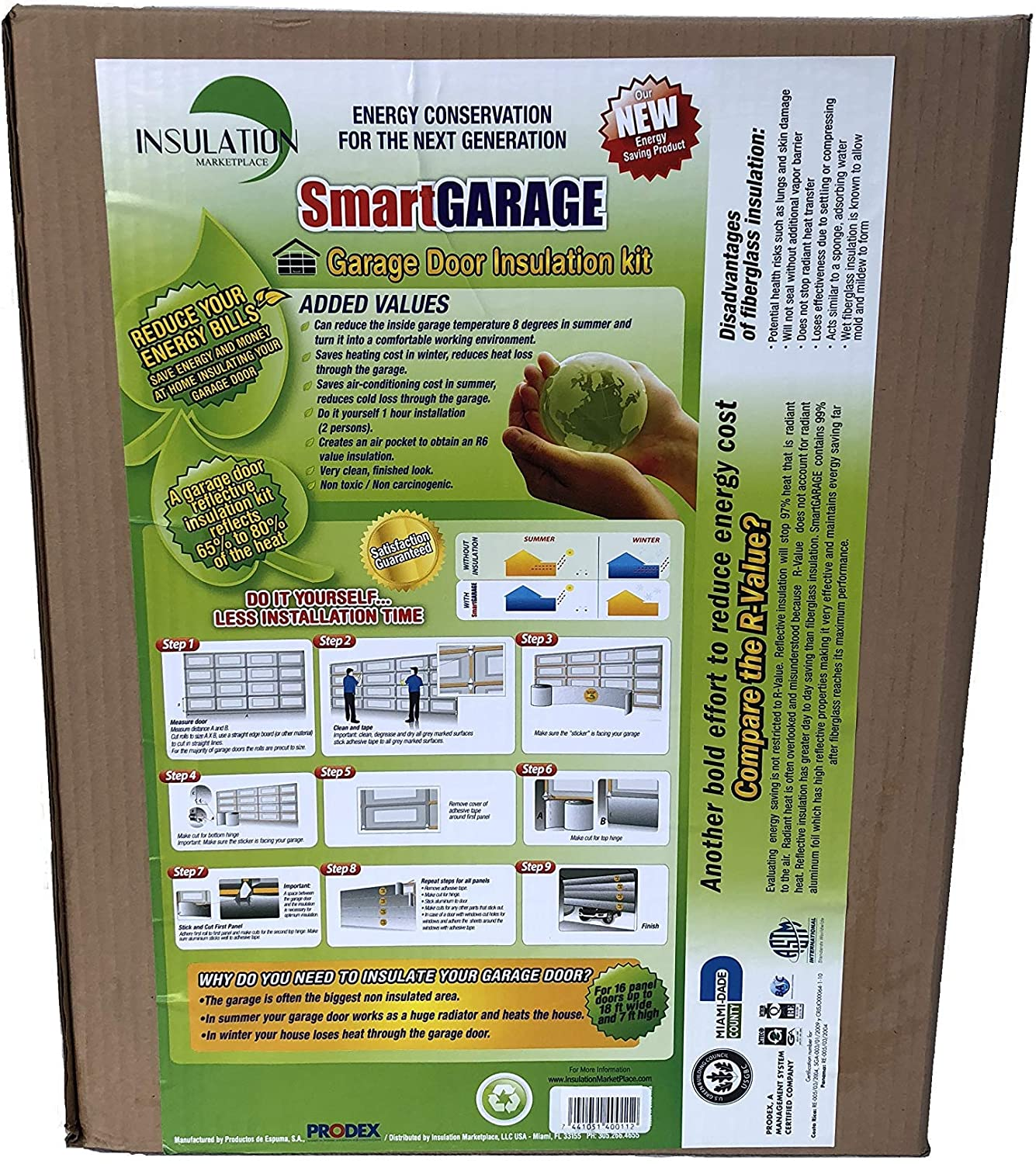 SmartGARAGE Reflective Door Insulation