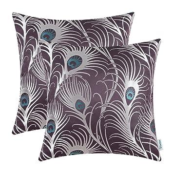 Amazon.com: CaliTime - Juego de 2 fundas de almohada, diseño ...