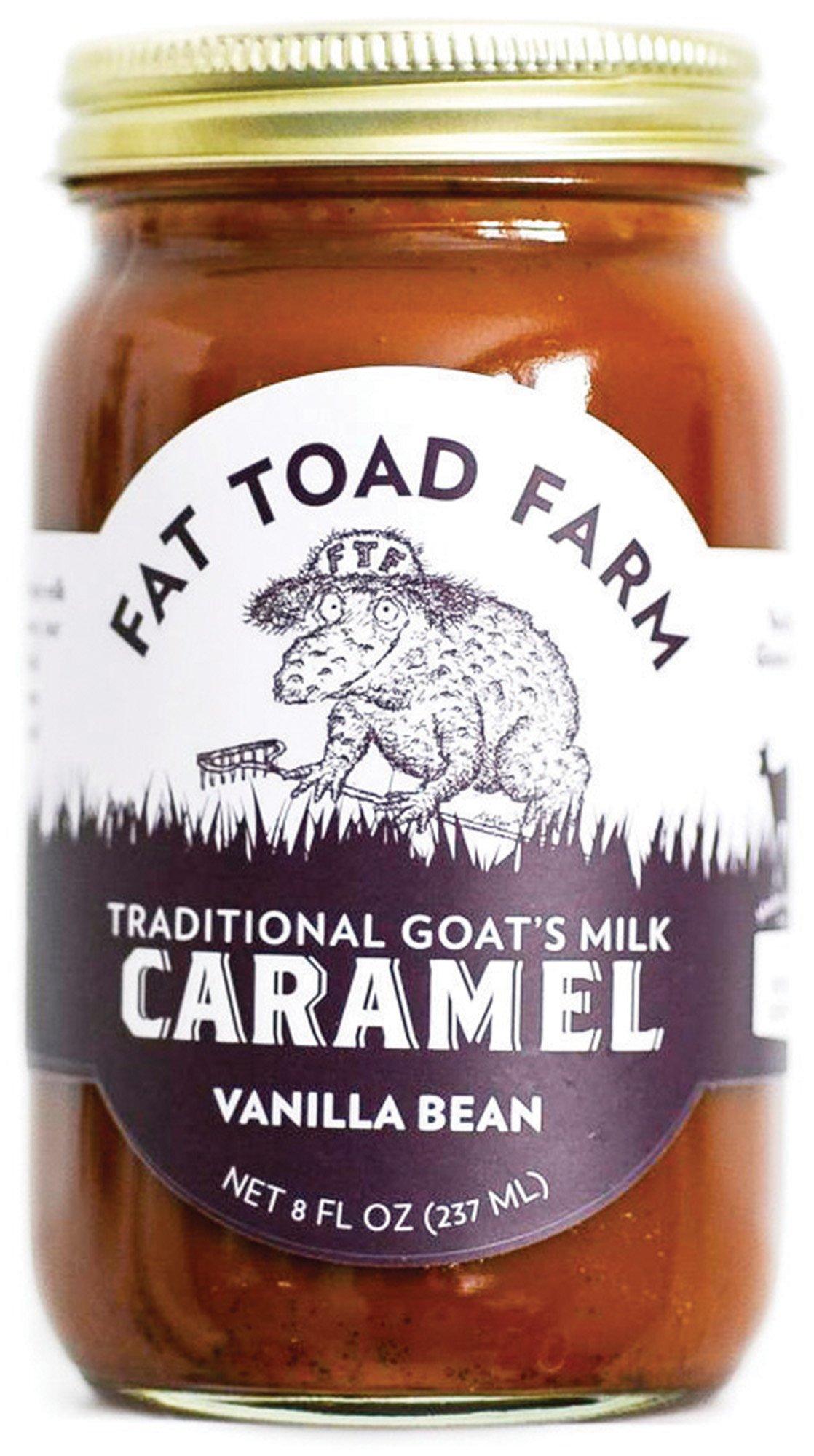 Fat Toad Farm Traditional Goats Milk Caramel Sauce, Vanilla Bean, 8fl oz Jar,