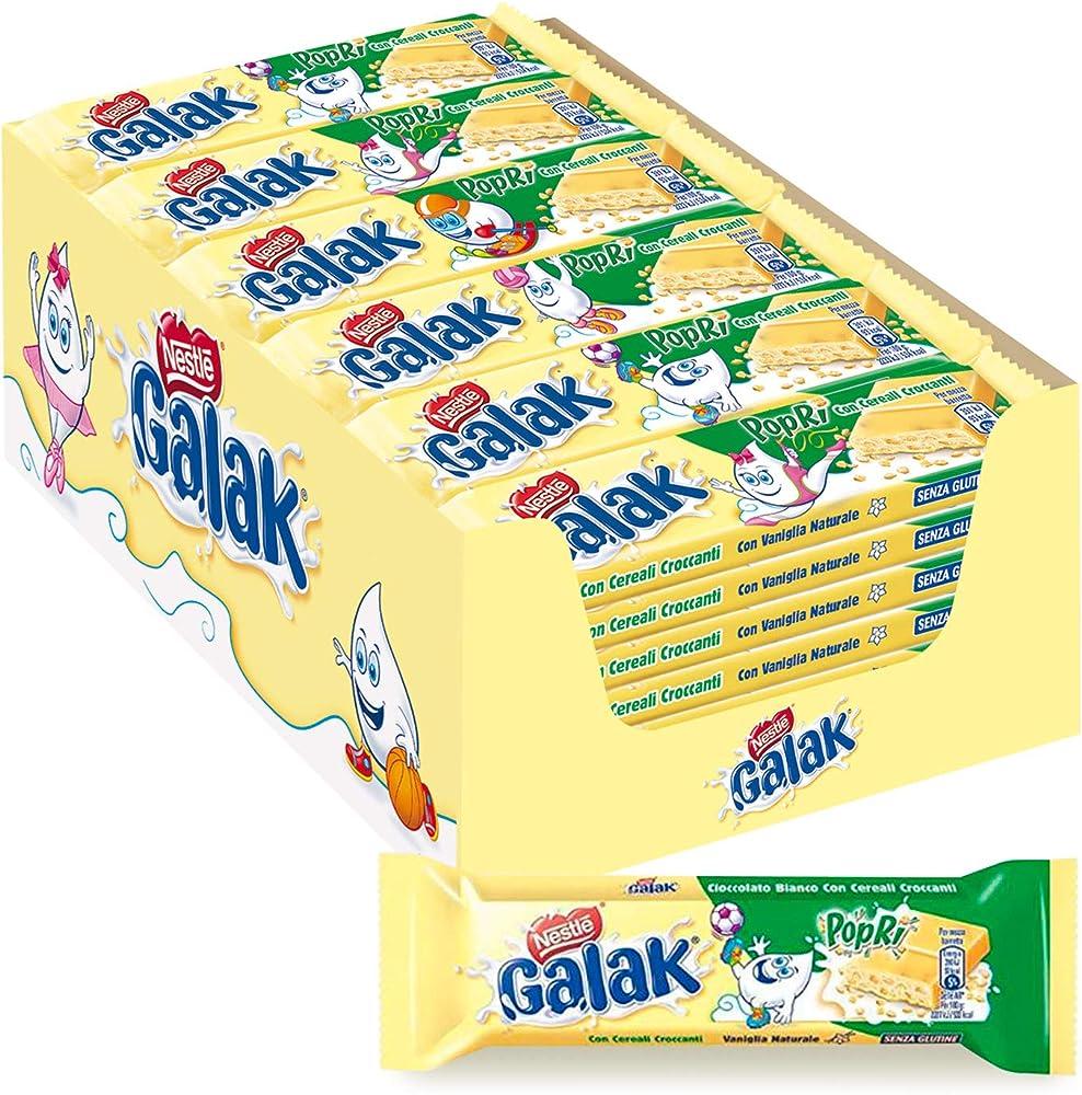 Nestlé galak popri barrette di cioccolato bianco con cereali, confezione da 36 barrette