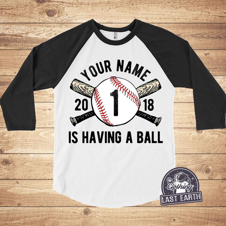 Custom Baseball Shirts Kids Personalized Baseball Bat T-Shirt