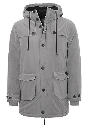 695cc505f6b3 Eight2Nine Herren Mantel mit Fleece-Innenfutter   Sportlich-Elegante  Winterjacke Grey XXL