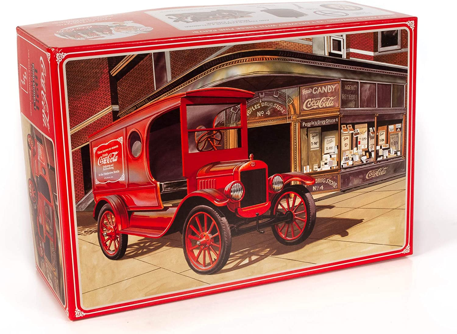 """Skill 3 Model Kit 1923 Ford Model T Delivery /""""Coca-Cola/"""" 1//25 Scale Model by AMT"""