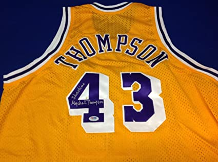 5985d2cebeb Mychal Thompson Signed Los Angeles Lakers Basketball Jersey