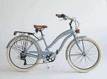Bicicleta Cruiser Mujer Made in Italy Via Veneto, Azul claro: Amazon ...