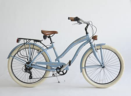 Bicicleta Cruiser Mujer Made in Italy Via Veneto, Azul claro ...