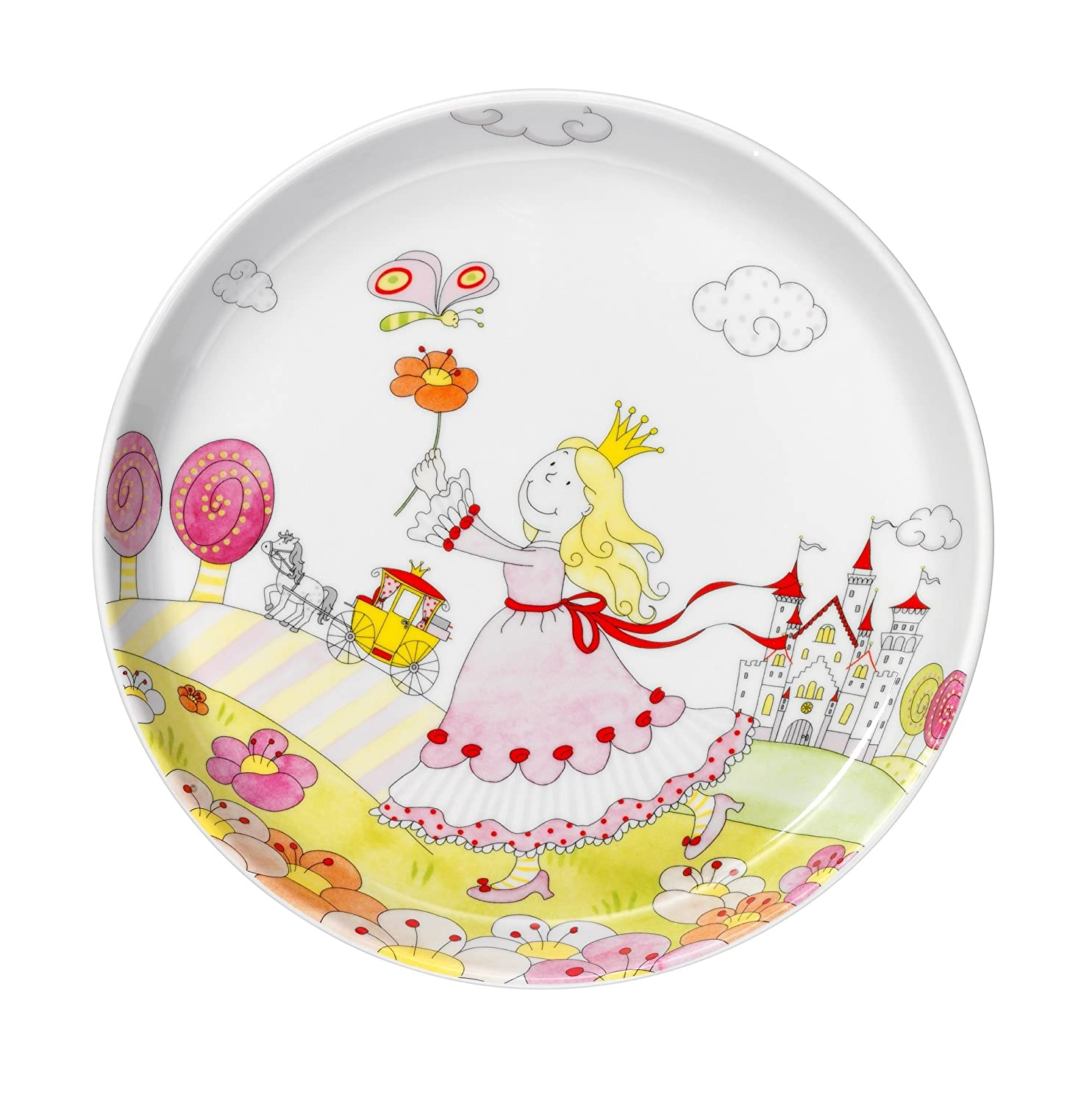 Amazon.com: WMF Childrens Crockery Set of 6 Princess Anneli Polished 18/10 Stainless Steel Age 3 Years and Over.: Kitchen & Dining