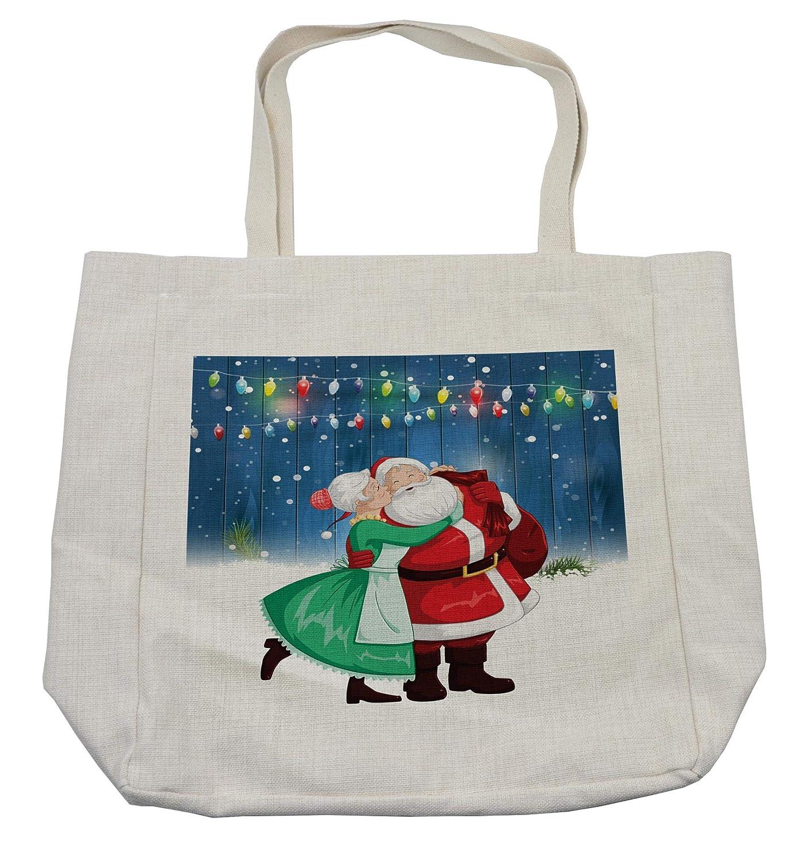 熱販売 Ambesonne クリスマスショッピングバッグ 冬の休暇テーマ 5
