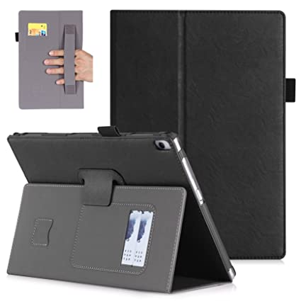 Lenovo Tab 4 10 plus Case TB-X704F-Premium PU Leather Case Smart Auto Wake/Sleep Cover with Hand Strap, Card Slots,Ultra Slim Magnetic Smart Cover ...
