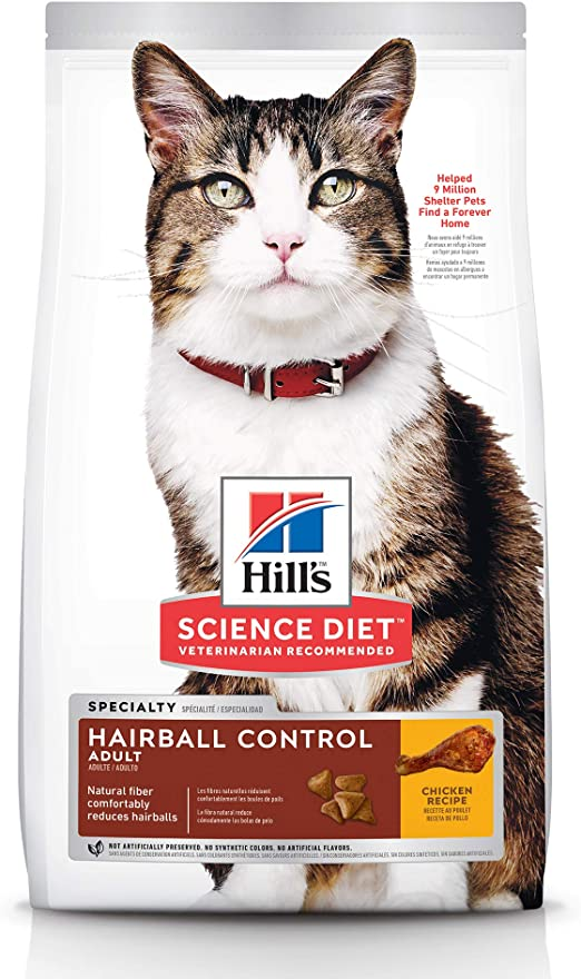 science diet hairball control light cat food