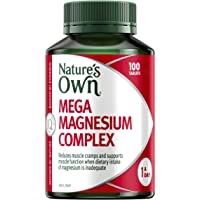 Nature's Own Mega Magnesium Complex - Supports muscle function and relaxation when dietary intake is inadequate, 100…