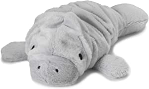 "Intelex Warmies Microwavable French Lavender Scented Plush, Manatee Warmies, Gray, 14"" X 8"" X 4"""