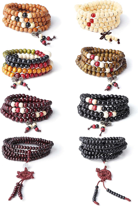 Sandalwood Mala,Gift Mala Bracelet Mala Bead Bracelet Buddhist Bracelet Yoga Bracelet Green Wood Bracelet 108 Mala Bead