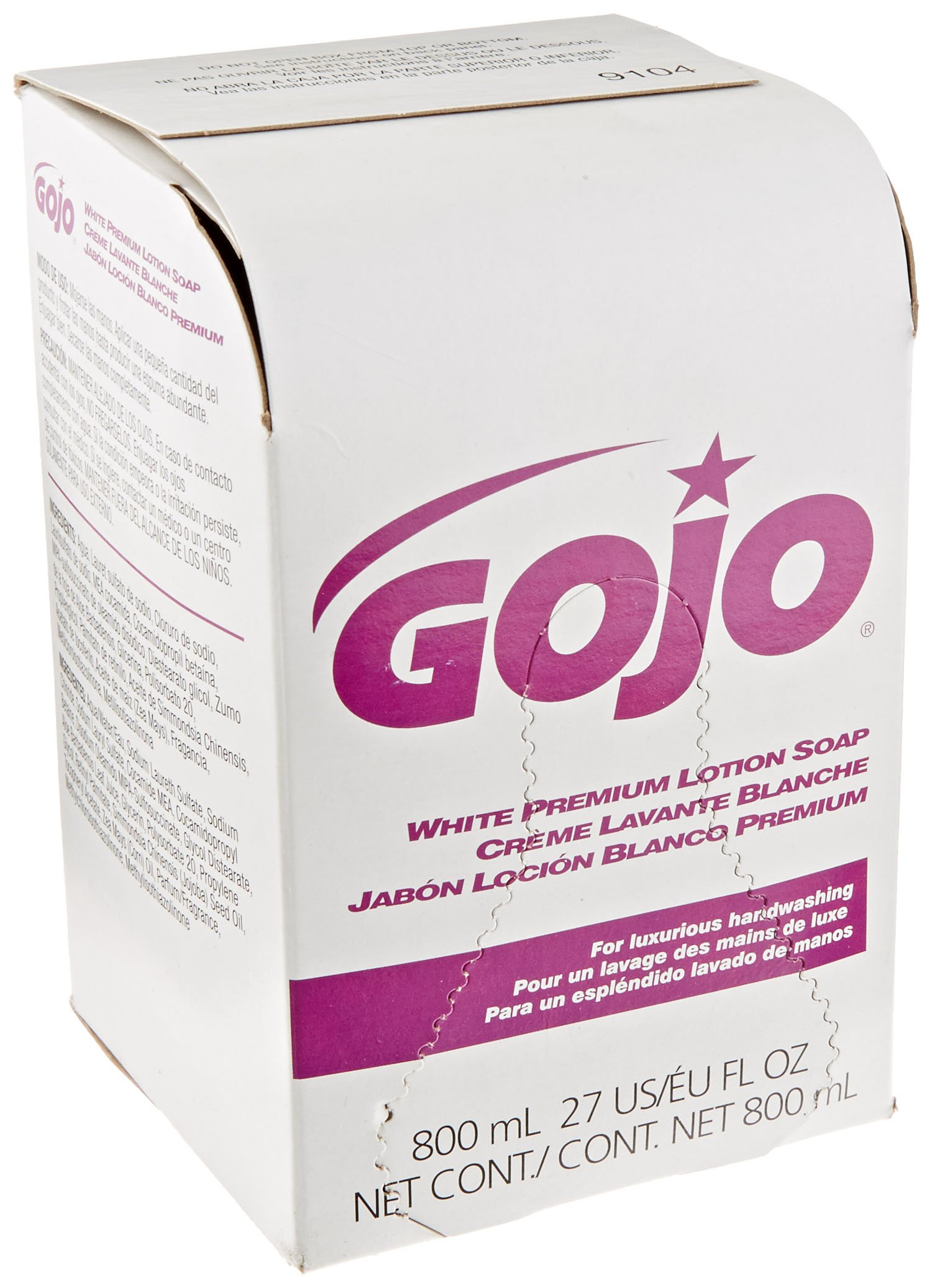 GOJO 9104-12 Premium Lotion Soap, 800 mL Refill