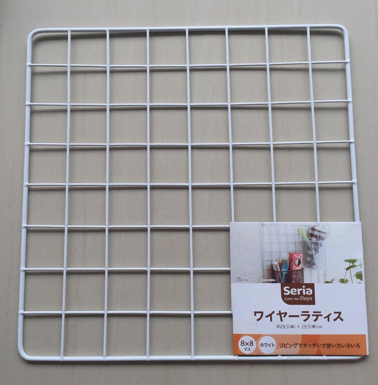 Japan Import - Kitchen Garden wire net hanging rack Mesh Memo Board ...