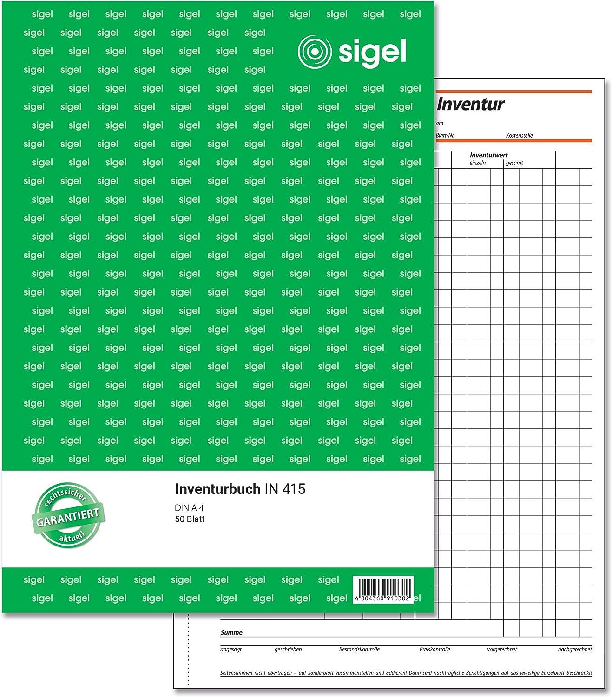 Sigel Inventurbuch IN 415 DIN A4 50 Blatt