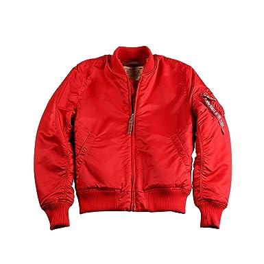 best website 985a6 4f338 ALPHA INDUSTRIES MA-1 VF 59 Herren Fliegerjacke Speed Red(S)