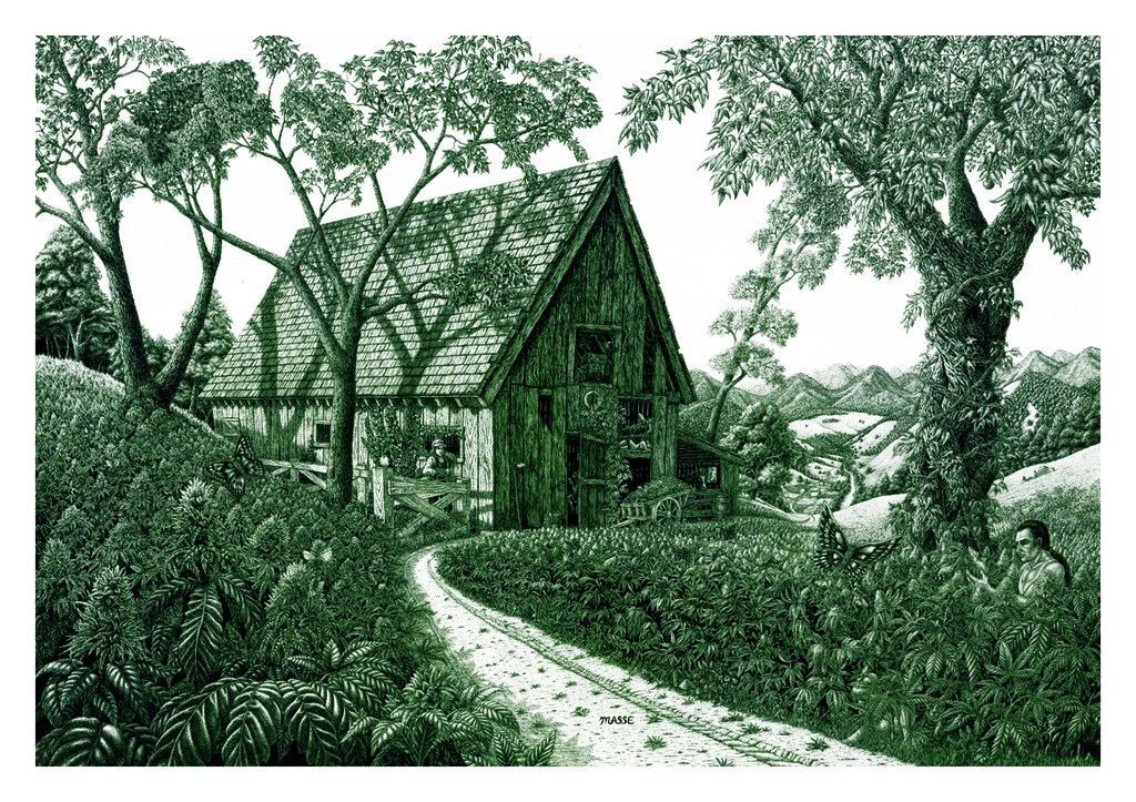 Tom Masse Field of Dreams Marijuana Fantasy Art Poster Print 22 by 32