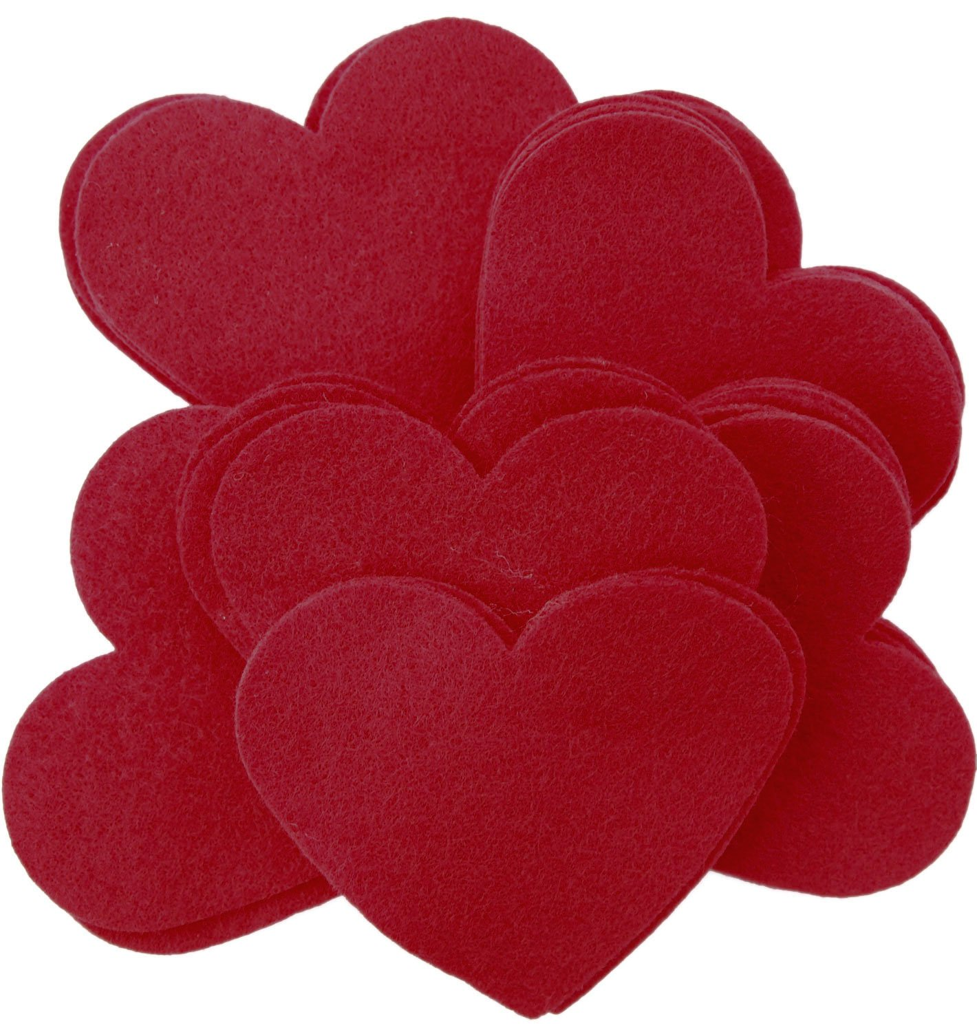 Playfully Ever After 3 Inch Cardinal Red 28pc Felt Hearts