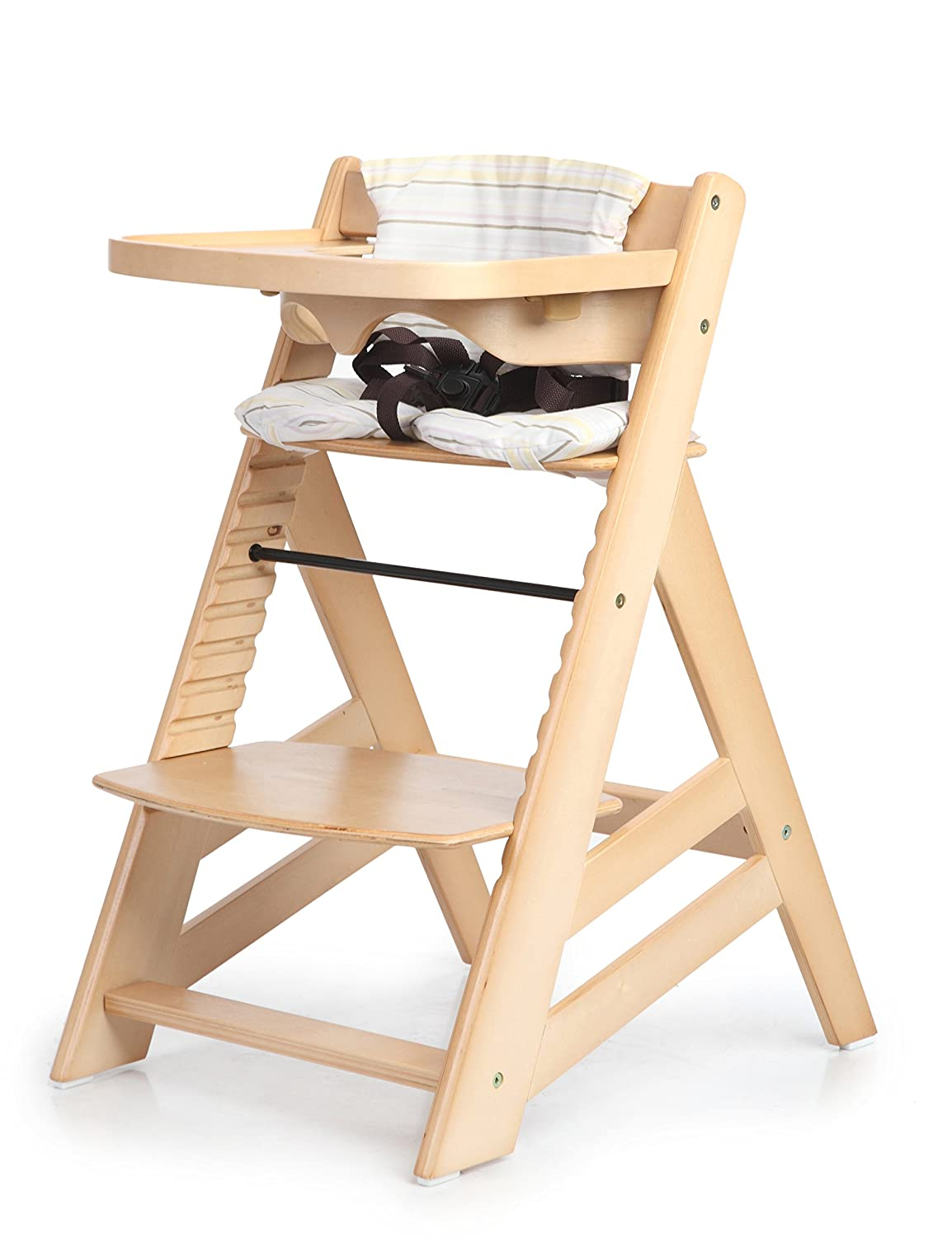 Amazoncom Sepnine Wooden Baby Highchairs with adjustable height