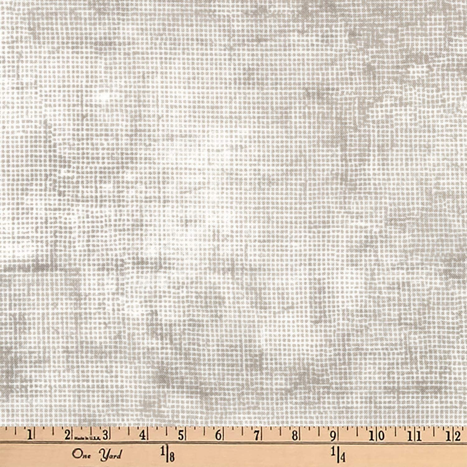 Robert Kaufman Chalk And Charcoal Grid Blender Quilt Fabric, Shitake, Quilt Fabric By The Yard