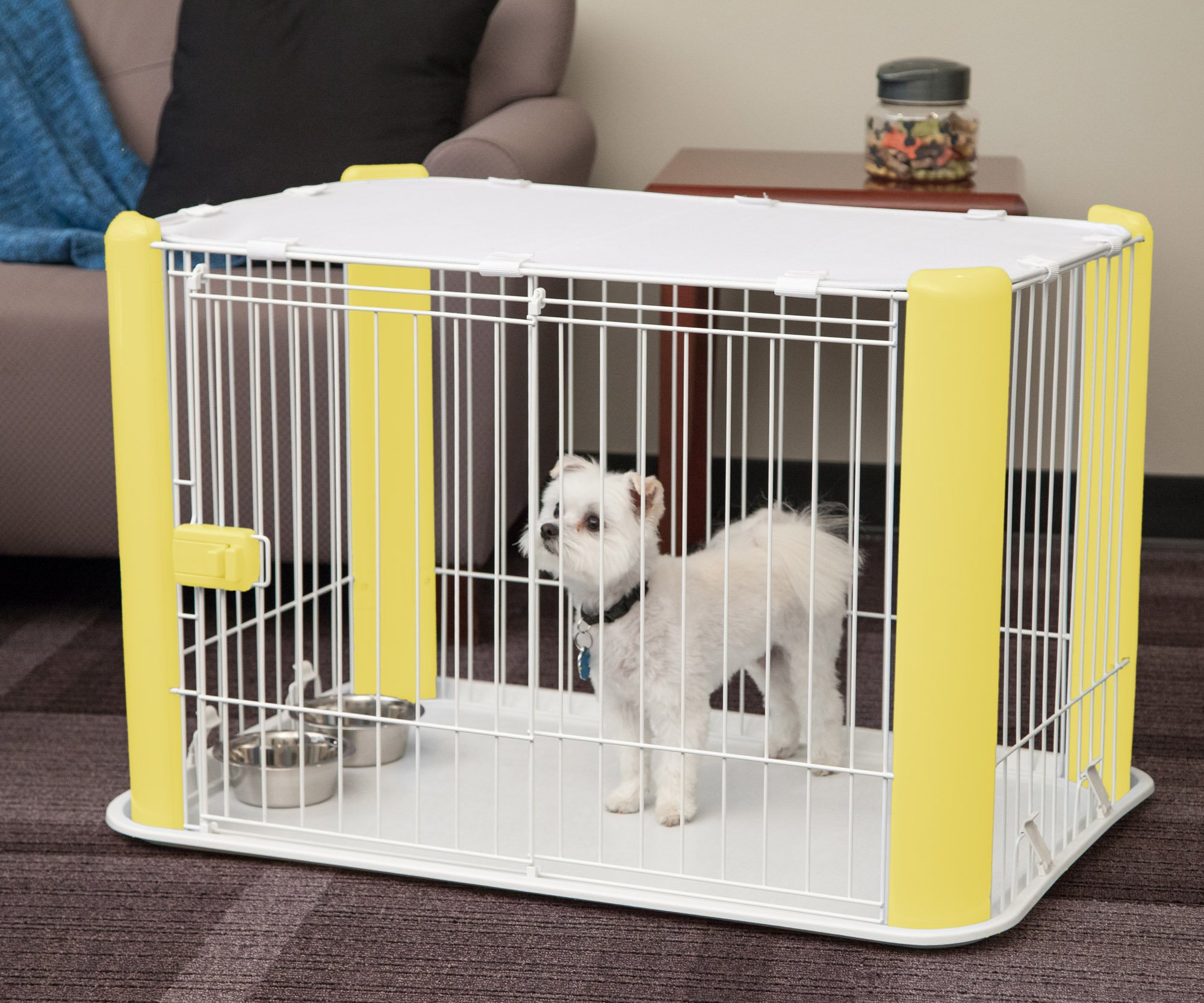 IRIS Wire Pet Pen, Multiple Colors Available (Yellow)