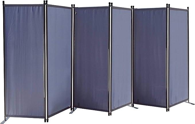 QUICK STAR Paravent 340 x 165 cm Tejido Divisor de habitación Jardín 6-Partición Pared de separación Plegable Balcón Pantalla de privacidad Gris: Amazon.es: Hogar
