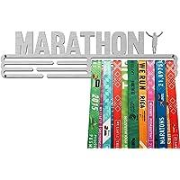 United Medals MARATHON, Sport Medaille Hanger Display   Geborsteld Roestvrij Staal houder medaillehanger (Max. 48…